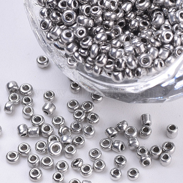2mm Silver Glass Beads