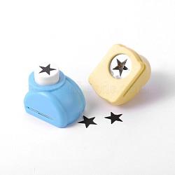 Kits de perforateurs en plastique multicolores de couleur aléatoire ou de couleurs mélangées aléatoires pour scrapbooking & artisanat en papier, shapers de papier, étoiles, 33x26x31mm(AJEW-F003-27C)