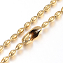304 Stainless Steel Ball Chain Necklaces Making, Oval, Golden, 29.5 inches(75cm), 3.5x2mm