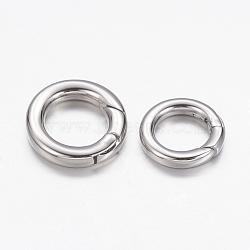 Anneau de porte à ressort en 304 acier inoxydable, o bagues, anneau, platine, 15mm; Diamètre intérieur de 9mm; 2.5mm(X-STAS-D070-01P-1)