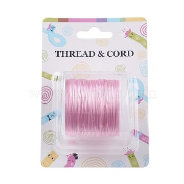 Fil de fibre élastique, rose, 0.8 mm; 60 m / rouleau(X-EW-O001-01J)