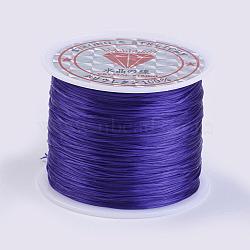 Flat Elastic Crystal String, Elastic Beading Thread, for Stretch Bracelet Making, DarkSlate Blue, 0.5mm; about 45m/roll(X-EW-P002-0.5mm-A27)