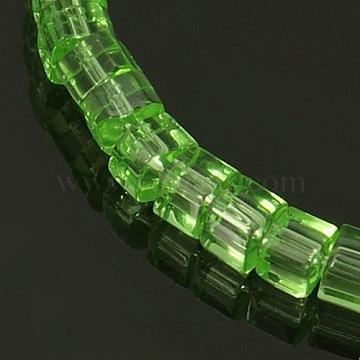 4mm LightGreen Cube Glass Beads