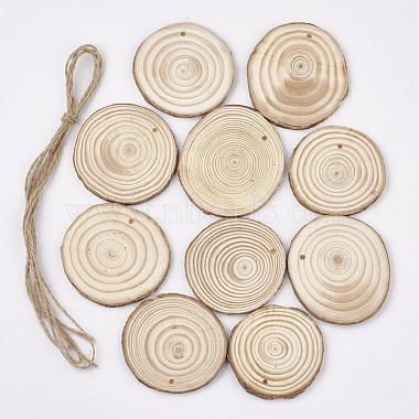 60mm PapayaWhip Tree Wood Pendants