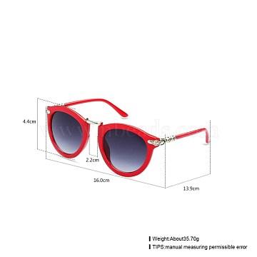 Trendy Women Summer Sunglasses, Plastic Frames and Polycarbonate Lenses, Gray, 16x4.4cm(SG-BB21484-4)