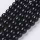 Synthetic Black Stone Beads Strands(X-G-G088-8mm)-1