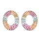 Handmade Raffia Woven Linging Rings(WOVE-S120-01E)-2