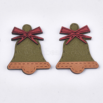 52mm OliveDrab Bell Suede Cabochons