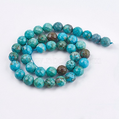 8mm Turquoise Round Natural Turquoise Beads