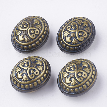 25mm Goldenrod Oval Plastic Beads