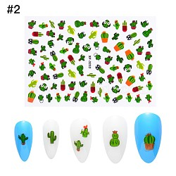 Nail Art Stickers, Self-adhesive, For Nail Tips Decorations, Xactus Pattern, Colorful, 9.5x6.5cm(X-MRMJ-Q066-XF3232)