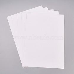 Autocollants en papier kraft, étiquettes auto-adhésives a4 pour impression jet d'encre laser, blanc, 29.5x21 cm(AJEW-WH0055-03)
