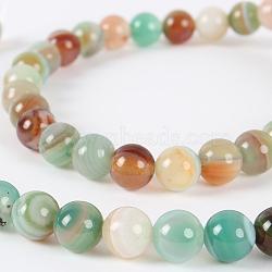 """Chapelets de perles rondes en pierre d'agate naturelle, teint, vert de l'océan profond, 6mm, trou: 1mm; environ 63 pcs/chapelet, 15.35""""(G-E232-15)"""