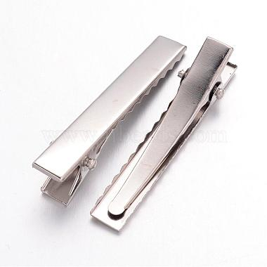 Iron Flat Alligator Hair Clip Findings(X-IFIN-S286-46mm)-2