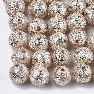 22mm NavajoWhite Round Polyester Beads