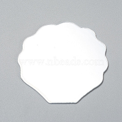 Shell Shape Mirror, for Folding Compact Mirror Cover Molds, Clear, 55x56x1mm(DIY-WH0170-50)