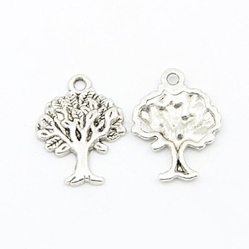 Antique Silver Tree Alloy Pendants