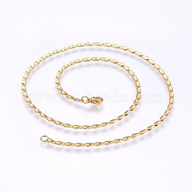 304 Stainless Steel Sheet Chain Necklaces(MAK-L015-04A)-2