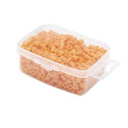 1 boîte 5mm perles hama PE de bricolage recharges pour enfants, Tube, orange, 5x5mm, trou: 3 mm; environ 500 / boîte(DIY-X0047-77-B)