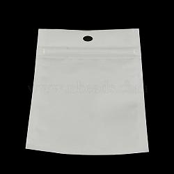 rectangle sacs à fermeture zip, sacs refermables, blanc, 13x8 cm(OPP-R003-8x13)