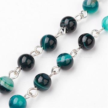 DarkCyan Natural Agate Handmade Chains Chain