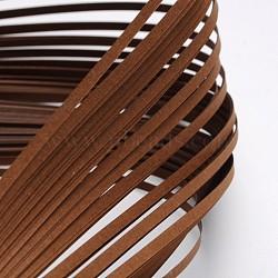Bandes de papier quilling, marron, 390x3mm; à propos 120strips / sac(X-DIY-J001-3mm-B25)