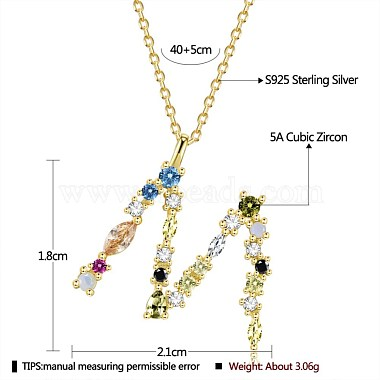 925 Sterling Silver Pendant Necklaces(NJEW-BB44288-M-G)-2