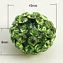 Resin Rhinestone Beads, Grade A, Rondelle, Peridot, 15x9mm, Hole: 2mm