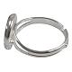 Brass Pad Ring Base Findings(KK-J2673-12mm-P-NF)-2