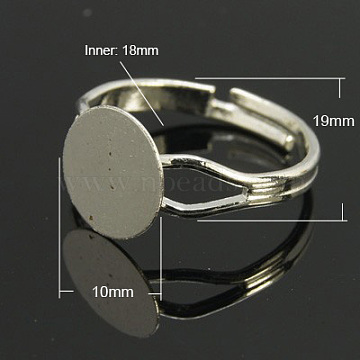 Platinum Brass Ring Components