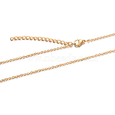 304 Stainless Steel Cable Chain Necklace(X-STAS-T040-PJ205-40)-2