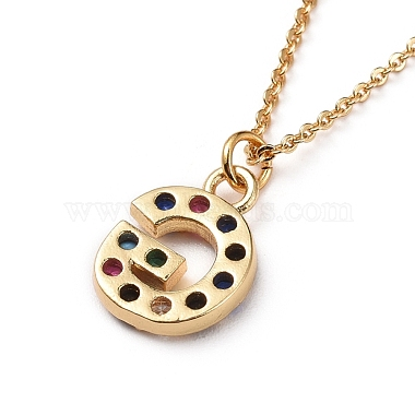 Letter Brass Micro Pave Cubic Zirconia Initial Pendants Necklaces(NJEW-JN02585-07)-3