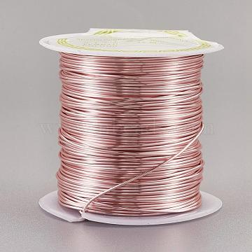 Copper Craft Wire Copper Beading Wire, Long-Lasting Plated, Pink, 20 Gauge, 0.8mm, about 26.24 Feet(8m)/roll(CWIR-F001-RG-0.8mm)