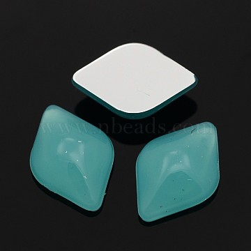 Rhombus Taiwan Acrylic Cabochons, Dark Turquoise, 11x7x3mm(X-K61-11-H17)