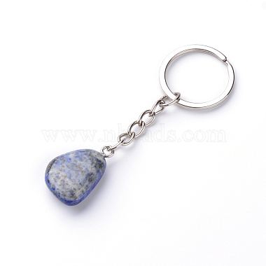 Natural Lapis Lazuli Keychain(X-G-Q484-D06)-2