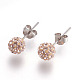 Sexy Valentines Day Gifts for Her Sterling Silver Austrian Crystal Rhinestone Ball Stud Earrings(Q286J201)-2
