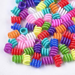 Perles en plastique, grandes perles de trou, couleur mélangée, 14~17x12.5 mm, trou: 8 mm; environ 840 pcs / 500 g(KY-T009-18)