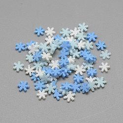 Cabochons en pâte polymère manuels, flocon de neige, couleur mixte, 4x5x0.3~2mm(PH-CLAY-Q242-05)