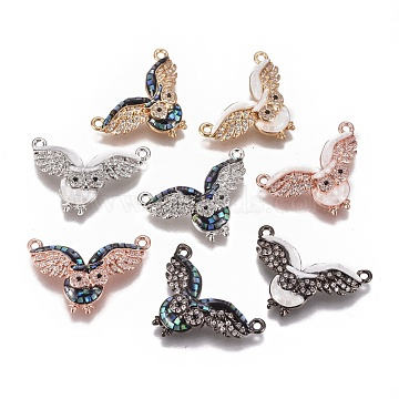 Mixed Color Mixed Color Owl Brass+Cubic Zirconia Pendants