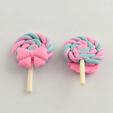 38mm Pink Candy Polymer Clay Cabochons