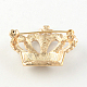 Crown Women's Light Gold Plated Alloy Rhinestone Brooches(X-JEWB-R011-13)-2