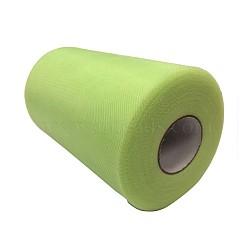Tissu de filet, Tissu à carreaux en tulle pour la fabrication de jupe, 'Chartreuse , 6'' (15 cm); environ 100 mètres / rouleau (91.44 m / rouleau)(OCOR-P010-D-C56)