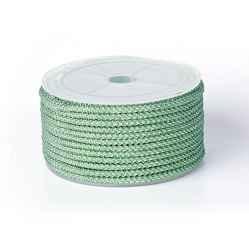 Polyester Braided Cord, LightGreen, 3mm; about 11~12m/roll(OCOR-F010-A02)