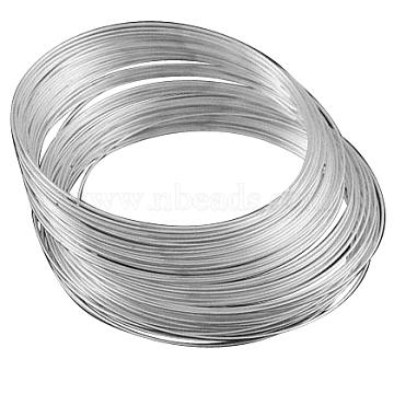 Fil à mémoire en acier, bracelets faisant, sans nickel, platine, 5.5 cm, fil: 1.0mm; environ 10 cercle / ensemble(X-MW5.5CM-1-NF)