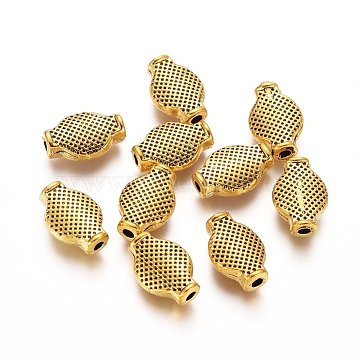 12mm Oval Alloy Beads