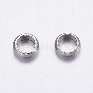304 Stainless Steel Beads, Rondelle, Stainless Steel Color, 5x2mm, Hole: 3mm(X-STAS-K146-064-5mm)