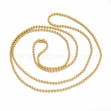 304 Stainless Steel Ball Chain Necklaces Making(X-MAK-I008-01G-A01)-2