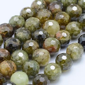 8mm Round Garnet Beads