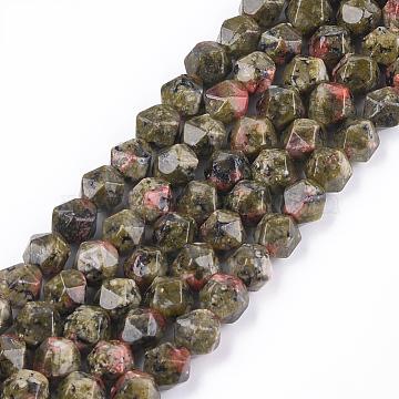 8mm Round Unakite Beads