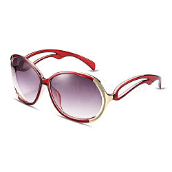 New Fashion Women Summer Sunglasses, Red Plastic Frames and PC Space Lens, Claret-Red, 5.3x14.5cm(SG-BB14531-4)